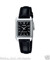LTP-V007L-1E Schwarz Casio Damen Damen Uhren Lederband Brand-New