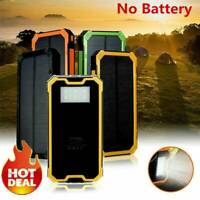 50000mAh LED Solar Power Bank Waterproof Dual USB Battery Charger For Cell Phone