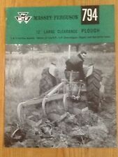FERGUSON PLOUGH BROCHURE ....................... ORIGINAL SALES PAMPHLET LEAFLET