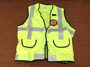 Northwest Safety Hi-Vis Reflective Vest w/ Lane County Fire District 1 Patch