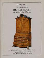 Il contenuto della casa EHI, LAPWORTH, Warwickshire CATALOGO D'ASTA