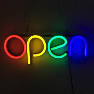 LED Open Sign Light UK Plug Neon Light For Store Bar Restaurant Wall Decor