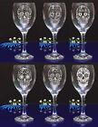 Personalised SUGAR SKULL engraved wine glass for Birthday, Christmas gift #143