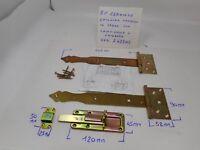 Kit cerniere chiusura cancello in legno con chiavistello di chiusura
