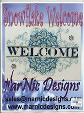 MarNic Designs SNOWFLAKE WELCOME Cross Stitch Chart Only ~ winter sampler