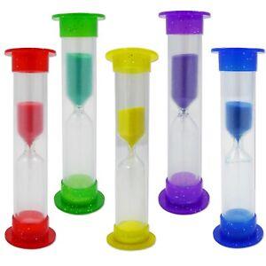 2 x Glitter Toothbrush Timer ~ Childrens Kids 2 Minute Sand Timer Teeth Brushing