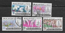 MALAYSIA , PULAU PINANG , PENANG , FLOWERS , 1965 , SET OF 5 , PERF , USED