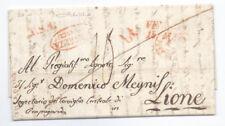 Prefilatelica prephilatelic Maggio 1843 da Venezia per Lione