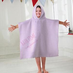 Kids Hooded Towel Bath Time Is My Favourite Pink Design Children's Bathrobe