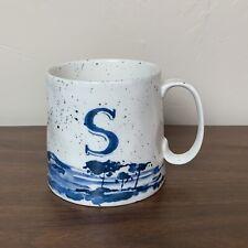 "Anthropologie ""S"" Mug, Quality Stoneware"