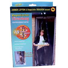Insektenschutz Tür 210 X 100 Cm Türvorhang Magnet Vorhang Fliegengitter schwarz