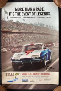 2013 Rolex Monterey Motorsports Reunion Races Poster 1967 CORVETTE Le Mans
