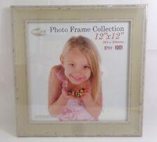 INOV8 Photo Frame Collection (304 mm x 304 mm) Cream Wood Retro Effect Frame