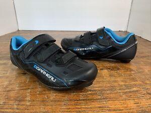 NEW Louis Garneau 1487242-20-40 Women's Jade Cycling Shoes in Black / Blue - 9