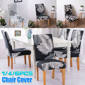 1/4PCS Dining Chair Seat Covers Slip Stretch Wedding Banquet Party