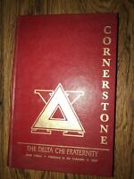1987 DELTA CHI  FRATERNITY CORNERSTONE MANUAL HARD COVER California Chapter