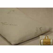 2 Premium High Density King Size Memory Foam / Bamboo Bedding Pillows 20x36