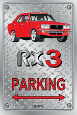 Parking Sign Metal MazdA RX3 4-door-20 - Checkerplate Look