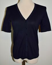 New Talbots Lightweight Sweater Blue Button Front Cardigan Top Petite Small PS