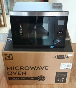 AEG MBB1755SEM 50cm Built in Microwave, 17 Litre, 800W - Black/St.Steel #7222