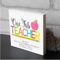 Personalised Teacher Teaching Assistant Nursery End of School Leaving Gift