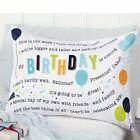 Mud Pie Little Boy Happy Birthday Celebration balloons Cotton Pillow Case NEW
