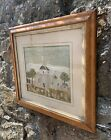 Maple framed 19thC Handmade American Ecclesiastical Wool Embroidery (Woolie)