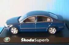 SKODA SUPERB BERLINE 2.5 TDI METAL BLUE ABREX 1/43 PRAHA BLEU METALLIQUE