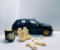 Kit street racing Renault Clio 1/18 Transkit Norev Ottomodels Tuning Accessori