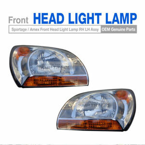 OEM Parts Front Head Light Lamp Left + Right For KIA 2005 - 2008 Sportage / Amex