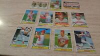 Lot of 11 Different 1976 and 1979 Topps Baseball Cincinnati Reds Cards