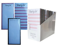 Magnetic Meal Planner & Tear Off Shopping List Note Pad Stripe 3 Designs 80 Page