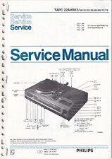 Service Manual-Anleitung für Philips TAPC 22 AH 982