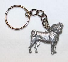 Puggle Dog Keychain Keyring Harris Pewter Made Usa Key Chain Ring