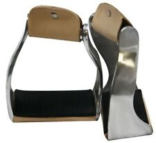 Showman Lightweight Twisted Aluminum Stirrups With Wide Rubber Grip Tread! TACK!