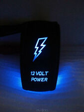 Car Truck Boat 12 VOLT POWER LED Light Laser Rocker Switch Backlit Blue 5 Pin