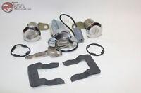 79-80 Mustang Ford Igntion Door Lock Cylinder Key Set OEM Keys New
