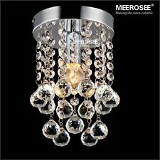 Crystal Chandelier Small Clear Crystal Lustre LED Lamp for Aisle Hallway light