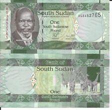SOUTH SUDAN BILLETE 1 POUND 2011
