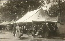 Bellows Falls VT Conn Valley Poultry Assoc Tent c1910 Real Photo Postcard dcn
