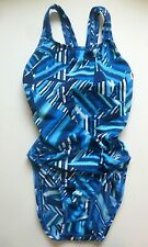 Speedo Womens One Piece Blue Geometric Size 28