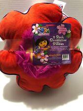 New Dora the Explorer 2 Pack Decorative Pillows
