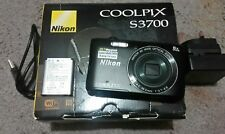 Nikon COOLPIX S3700 20.0MP Digital Camera - Black