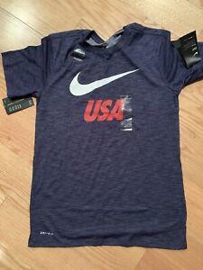 Nike USA Slub Preseason Tee USMNT Sz S BNwT 888885-410 Navy Soccer