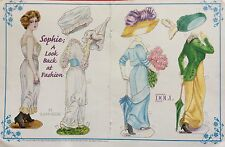 Sophie, A Look Back Paper Doll by Susan Bebe,1998 Doll Collectors Magazine
