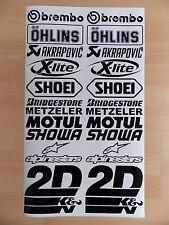 Sponsoren Aufkleber Set - 2x12 Stück - Motorrad - Auto - 10cm Breit - Sticker