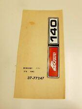 Mercury Decal 77247
