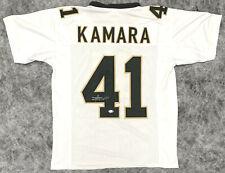 Alvin Kamara Autographed White Jersey - Signed Beckett BAS COA