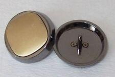 8 Metallknöpfe Knöpfe 30mm anthrazit / gold geb. 03.27#274a