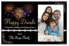 10 Personalised Diwali Devali Hindu Greetings Party PHOTO Post Cards N1